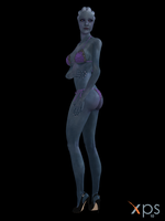 Liara Purple Bikini for XPS by Grummel83