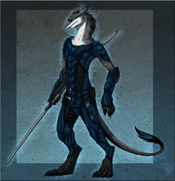 Comish - Sergal Warrior by TwilightSaint
