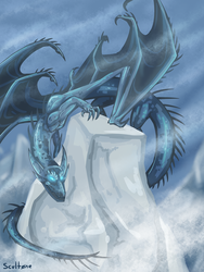 Smaugust: Ice Dragon by scult0ne