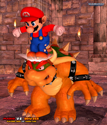 Mario Vs. Bowser: Stompin' On The Koopa King by ShadowNinjaMaster
