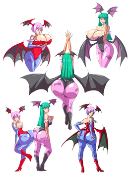 Pack Preview - Succubi by Axel-Rosered