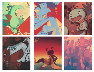 Colored Mons by CrazyIguana