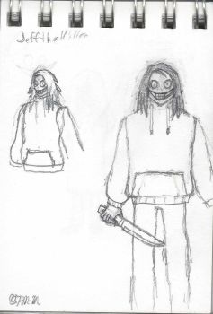 Sketchpad Musings #10: Jeff the Killer (old) by The-Metal-Maniac