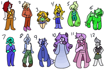 Rainbow Quartz Adoptables {Open}{REDUCED PRICE} by AshbrightTheWise