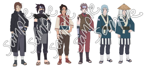 Naruto Male Adoptables -CLOSED, READ DESCRIPTION- by anniberri