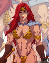 Red Sonja gold edition by LovBlondGirlMuscled