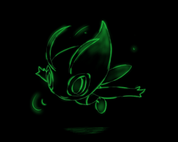 Neon Celebi by KrescentArt