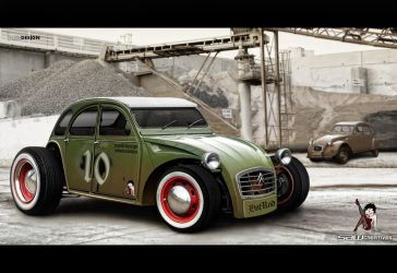 Citroen 2cv 1979 hotROD by yasiddesign