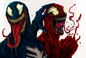 VENOM AND CARNAGE by suspension99