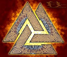 Mula Bandha, the valknut lock by Forest-of-Blades
