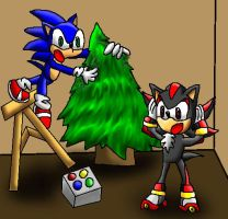Sonic Christmas by papersak