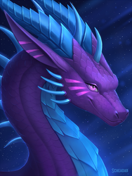 Dragon portrait. by Scheadar