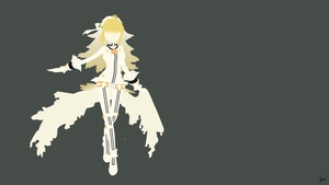 Saber Bride (Fate/Extra CCC) Minimalism by greenmapple17