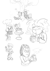 Tales from Magika - Random sketches by megawackymax