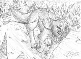 Fenrir's Escape by Forest-shrine-wolf