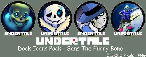 Undertale Dock Icons Pack - Sans The Funny Bone by courage-and-feith