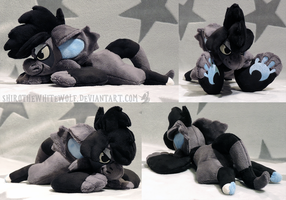 [PLUSH/BAGBEAN] Haze the Mascot Bagbeanie by ShiroTheWhiteWolf