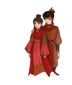 Fire Lord and Lady by DanaisH