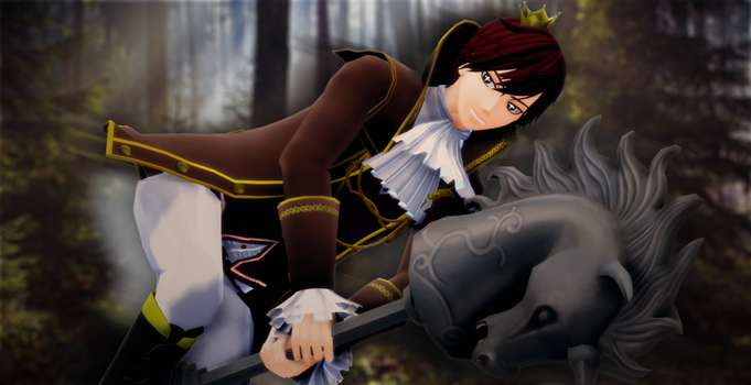A prince on a grey horse~ by Kimmy931