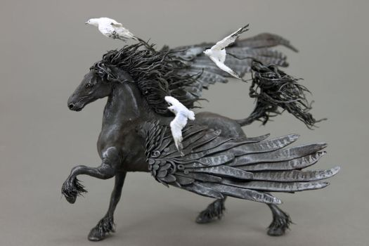 Pegasus with Seagulls by hontor