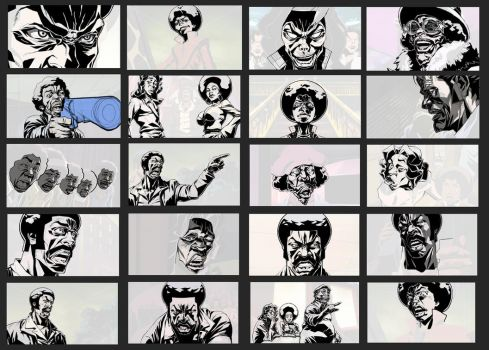 Black Dynamite drawing notes by kse332