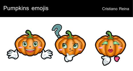 Pumpkins emojis by CristianoReina