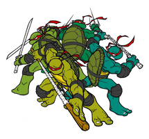 TMNT Color by GreatLP by joeybyk