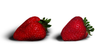 Isolated Strawberries by JuedM