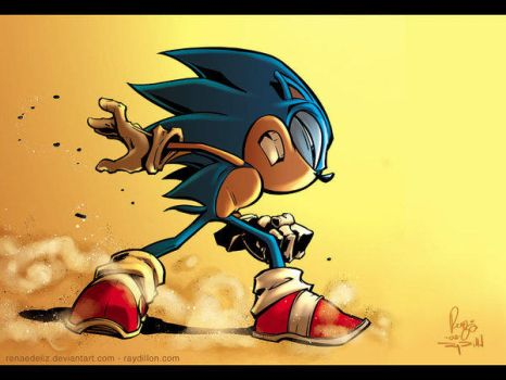 Sonic Hedgehog by Renae De Liz by GoldenGoatStudios