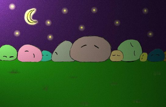 Dangos Sleeping by Chipkinz