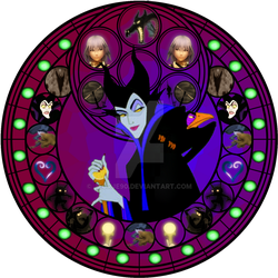 Maleficent stained glass by jeorje90