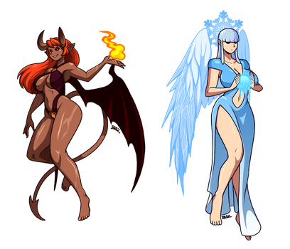The Scorched Devil and the Frozen Angel by Blazbaros