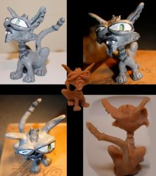 Mr. Meow the Maquette by truncheonm