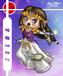 Brawl Chibis - Zelda by Candy-Ice