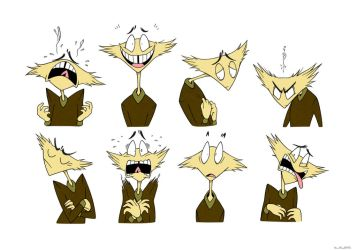 GIBBER FEEBLE ~ Expressions Reference Sheet by Plyesdayk