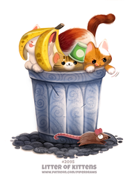 Daily Paint 2095. Litter of Kittens by Cryptid-Creations