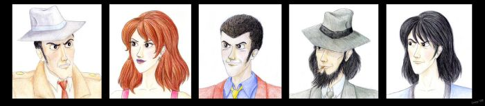Lupin III characters by Lucy--C