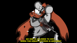 Aftertale - No one is allowed to cry (Screenshot) by Scriblotixsketchex