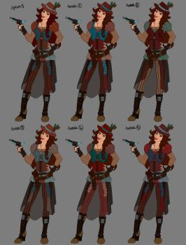 Female Character Colour Combos 2 by LisaGunnIllustration