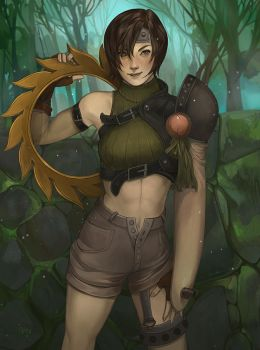 Yuffie by juuhanna