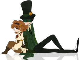 Steampunk love [the lorax movie] by aidmoon