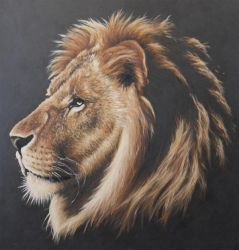 Lion Portrait Painting by JonMckenzie