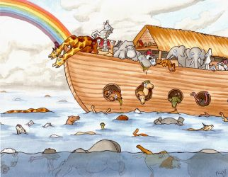 Noah's Ark by frowzivitch