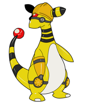 TF2 Pokemon - Engineer Ampharos by Jestermation