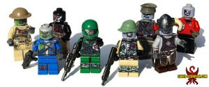 LEGO Zombie Edition Minifigs by Saber-Scorpion