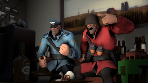 TF2: Strict, Doe and football match by Bielek