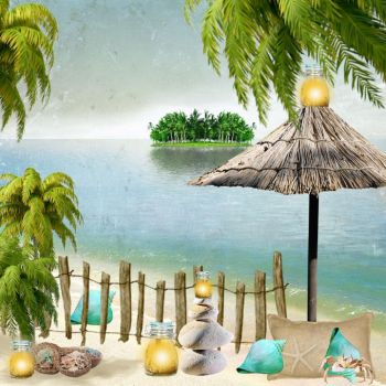 lights on the beach - Irish Princess Designs kit by jannied