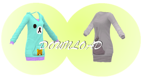 [MMD] COZY HOODIES [+DL] by Sims3Ripper
