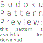 Sudoku GIMP Pattern Download by MajikkanBeingsUnite