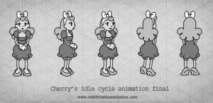 Cherry's Idle cycle animation final by RedLittleHouse